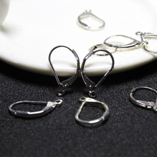 [GIN FOR FREE SHIPPING] 40 PCS Lever Earring Backs Ear Clips Jewelry Supplies