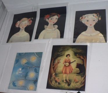 5 Art Prints EMILY WINFIELD MARTIN, Lovely Collection 8x6-Lot of 5