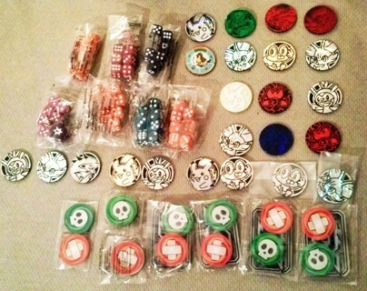 Mixed Pokemon TCG Coins Dice Game Pieces FREE SHIPPING