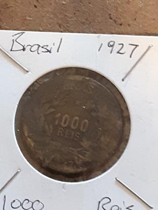 1927 BRAZIL 1000 REIS COIN