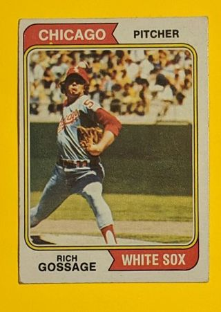 """1974 """" Goose """" Gossage (2nd year card)"""
