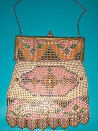Whiting and Davis Co mesh purse vintage