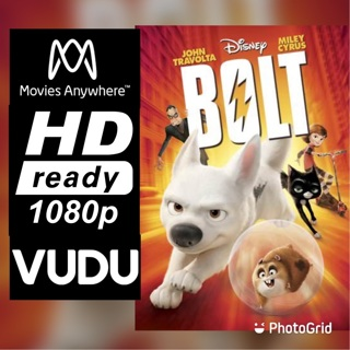 BOLT HD MOVIES ANYWHERE OR VUDU CODE ONLY