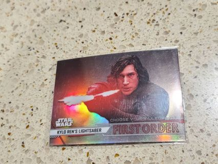 2020 Star Wars kylo Rens Lightsaber refractor card