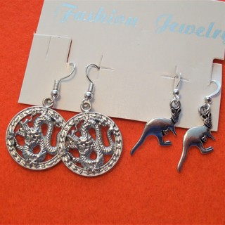 Two Pair of New Silver Tone Earrings