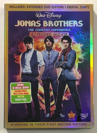Disney Jonas Brothers: The Concert Experience 2-Disc Extended Edition + Digital Copy Movie - NEW!