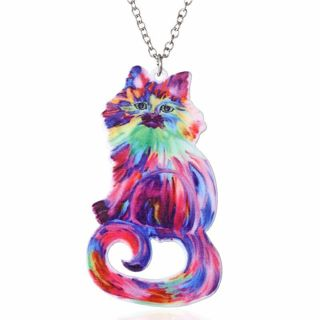 RAINBOW CAT NECKLACE