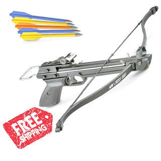 50 lb. Mini Crossbow Pistol Grip C3000 Archery Hunting Cross Bow with Arrows