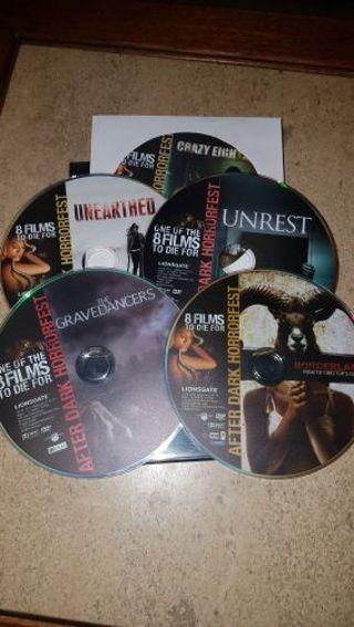 5 horror DVDs