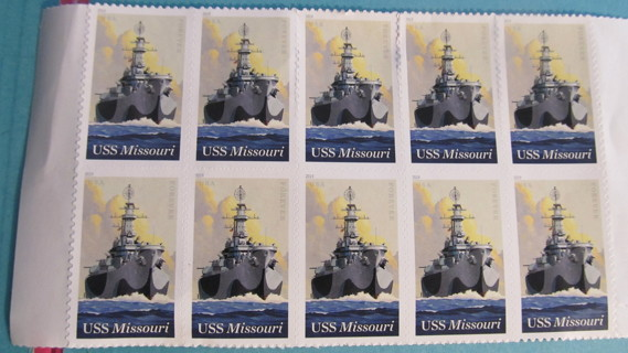 1 FOREVER STAMP USS MISSOURI...ADDING MORE STUFF