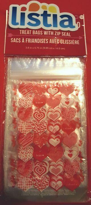 FREE♡ 4 - HEART zip seal BAGS ♡ FREEshipping! +BONUSES