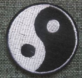 YING YANG Patch IRON ON Patch Martial Arts Peace Balance Clothing Embroidery Applique