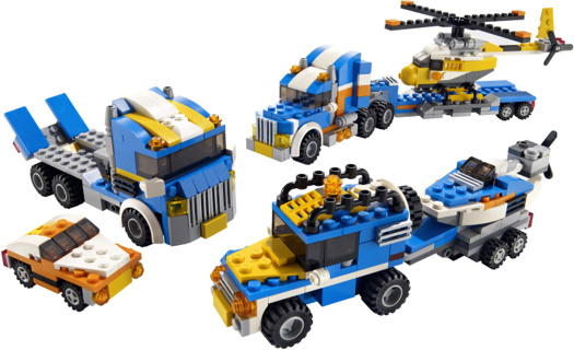 New Transport Truck Lego Creator 276 pieces ! 3in1