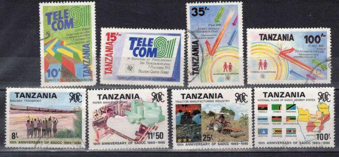 Tanzania Stamps, 2 sets- Telecom, SADCC