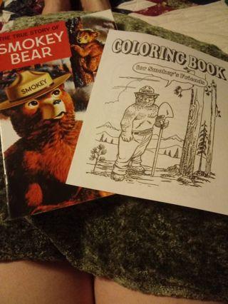 Smokey Bear comic and Coloring book
