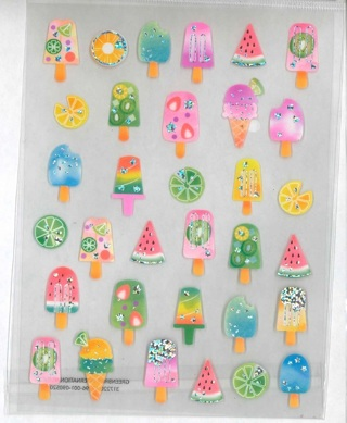 Shiney Ice Cream Stickers