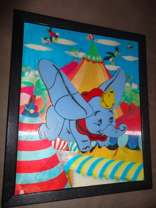 free dumbo elephant framed moving illusion magnetic picture dumbo