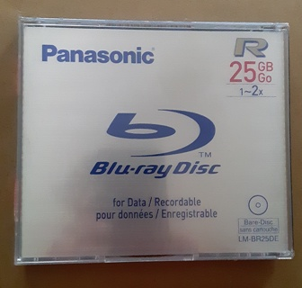 Sealed new 25GB Blu-ray Recordable data disk
