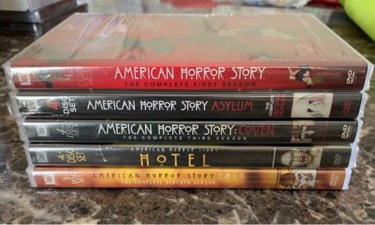 New American horror story dvd seasons 1,2,3,5,7