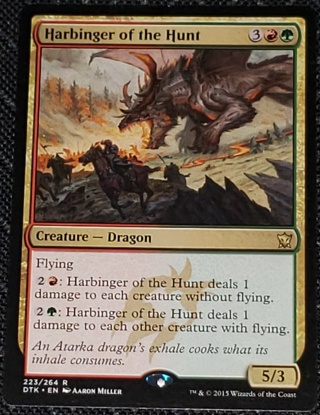 MTG Harbinger of the Hunt Rare 223/264 Dragons of Tarkir  (DTK) Magic the Gathering (2015)