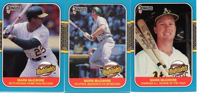 (5) 1987 Donruss Highlights Mark Mcgwire
