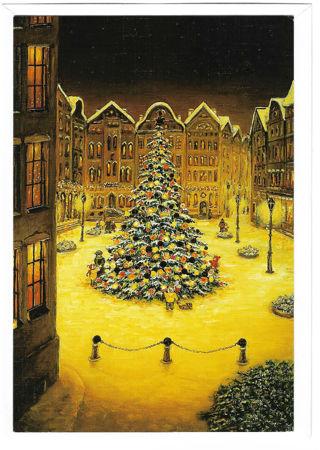 Christmas Card Unused With Envelope Christmas Tree