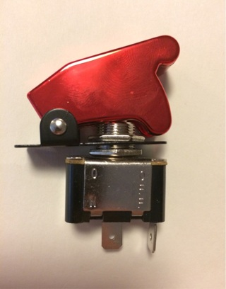 On-Off Racing Style Toggle Switch w/ Red Cover. NEW