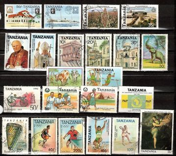 Tanzania Commemorative Stamps, 1990s