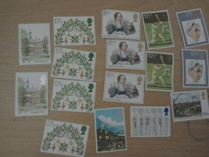 17 Mint English stamps
