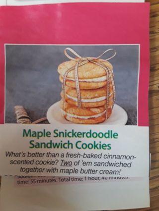Maple Snickerdoodle Sandwich Cookies