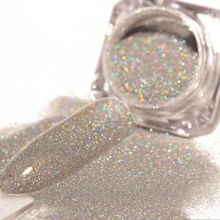 1 Box Holographic Nail Glitter Powder Shinny Chrome Sliver Dust Sparkly Manicure Nail Art Decorati