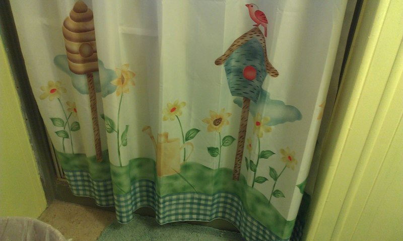 FREE Birdhouse Flower Shower Curtain
