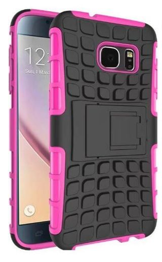 NEW SAMSUNG GALAXY s6 PHONE CASE Pink HYBRID Scratch-Resistant Shock Absorbent Tire non slip Grip