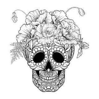 ❄(New) Sugar Skull Halloween Coloring Sheets ❄