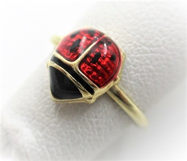 10k Lady Bug Toe - Midi- or Ear Cuff Ring