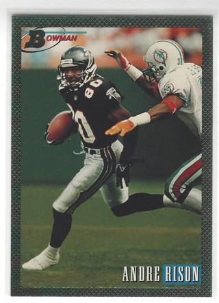 1993 Bowman #45 Andre Rison Atlanta Falcons Football Card Foil