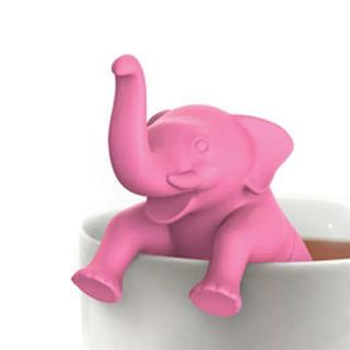 Cute Silicone Elephant Shaped Tea Infuser Filter Teapot Creative Animal Tea Strainer Home Kitchen