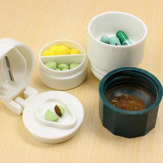 Grinder 4 Layer Cutter Tablet Powder Medicine Crusher Box Splitter Storage