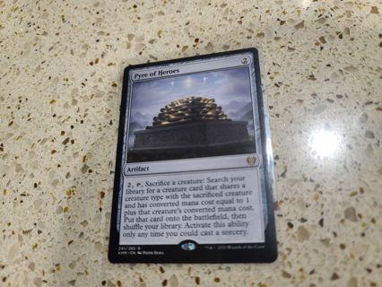 Mtg Kaldheim Pyre of Heroes rare card