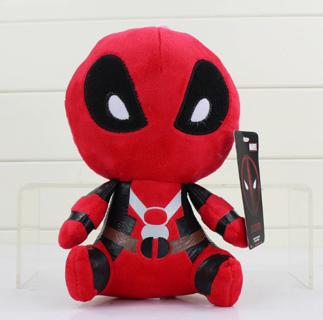 20cm Deadpool Plush Soft Stuffed Dead pool Super hero Spiderman Plush Doll Toy for kids gifts