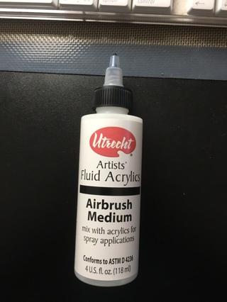 New 4 oz. bottle Airbrush Medium