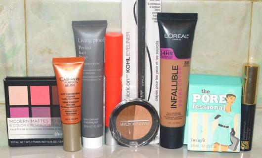 STUFFED MAKEUP BAG~EyeShadow~Primer~Eyeliner~Bronzer/Highlight~LipBalm~Mascara & Hair Stuff?