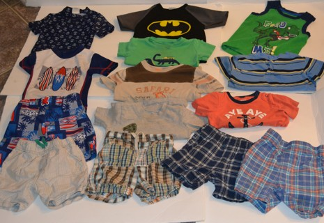 RELIST! HUGE LOT of Baby Boys Size 18 Months Summer Clothes Lot     PreOwned FREE SHIPPING!