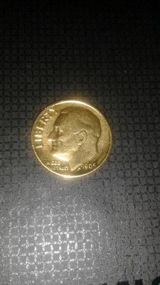 Starting With A 1965 Gold Plated Dime Lots Of Silver