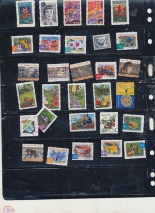 (30+5 Bonus) Stamps from Australia,  All Different, Vintage, Used, Cancelled - AUS-137