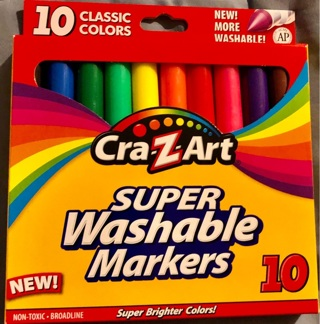 Brand New: Box of 10 Cray-Z-Art Classic Washable Markers!! Illustration/Spcl Effects/School/Crafts