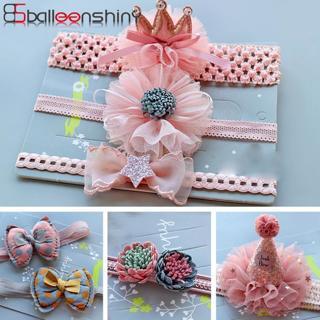 BalleenShiny Princess Headband Baby Girls Elastic Crown Flower Hair Band Child Kids Bow Glitter Tu