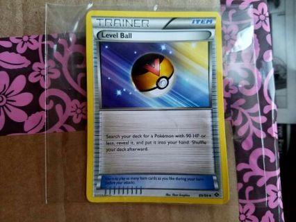 Pokémon Trainer Level Ball Card