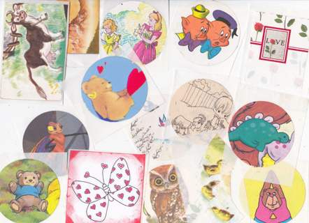 Grab Bag Of Kids Stickers for Arts & Crafts Scrapbooking Mix Lot Boys Girls NEW Decals