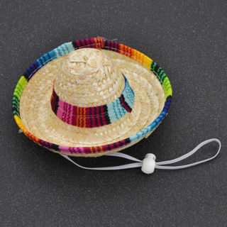 [GIN FOR FREE SHIPPING] Sombrero Puppy Cat Mexican Hat Halloween Pet Dog Clothing